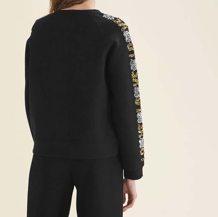 Sweatshirt mit Pailletten : null farbe Schwarz