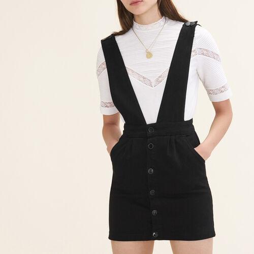Trägerkleid aus Jeansstoff : Kleider farbe Schwarz