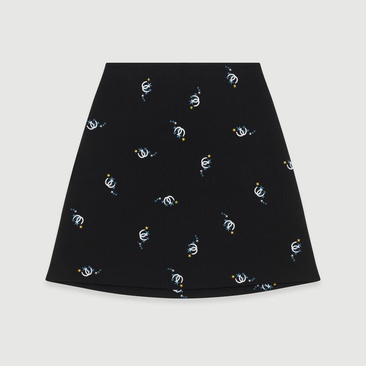 Trapezrock mit edlen Stickereien : Röcke & Shorts farbe Schwarz