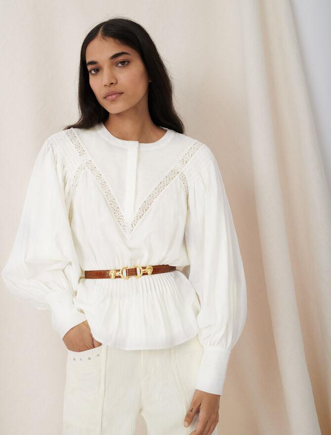 Bluse mit Guipure-Borte - Tops & Hemden - MAJE