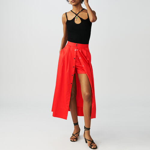 Rock gummibund : Röcke & Shorts farbe Rot