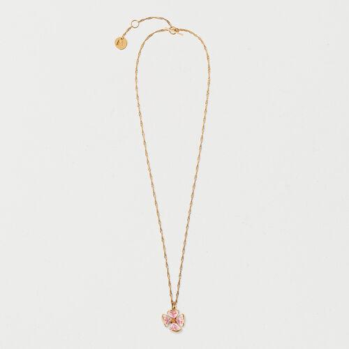 Collier mit Rosenblüte : Schmuck farbe OR