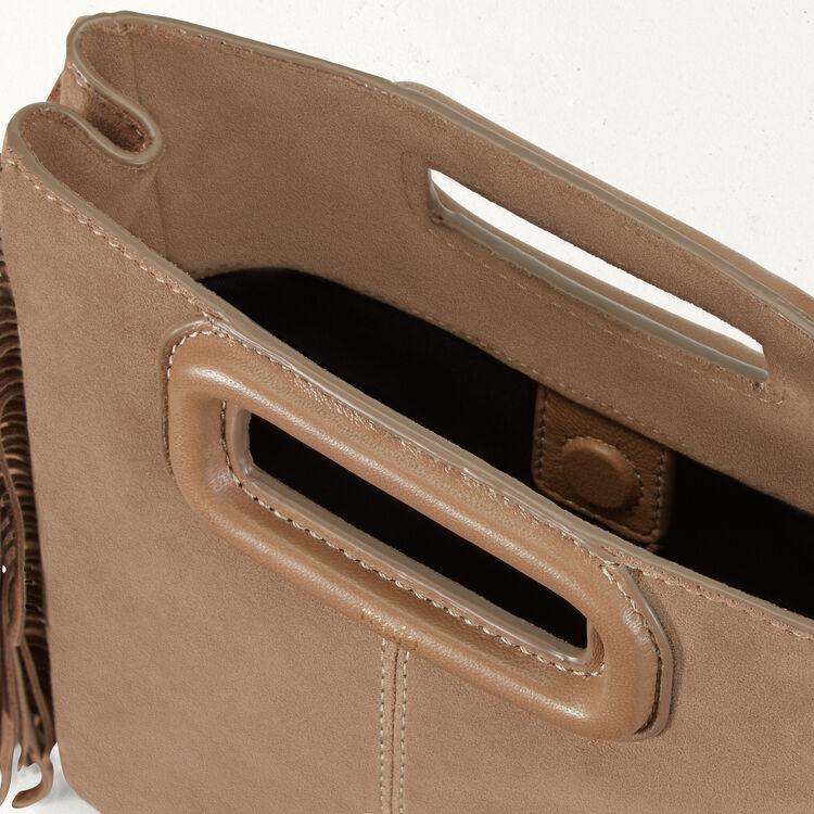 M Tasche aus Veloursleder : M Tasche farbe Beige