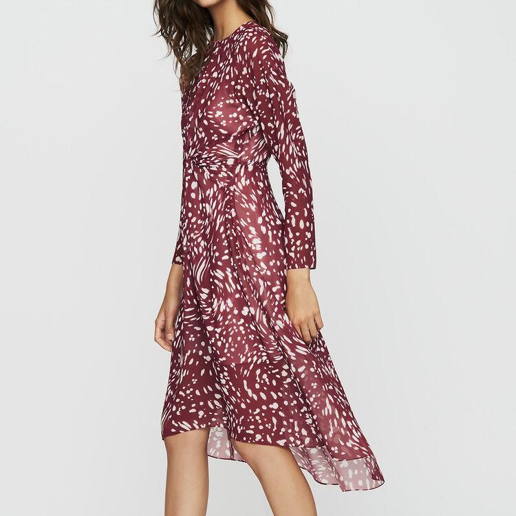 Langes Plissee-Kleid mit Stickereien : Bekleidung farbe IMPRIME