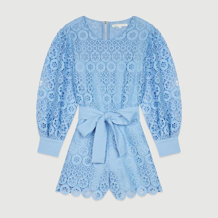 Jumpshort mit Guipure Margeriten : Röcke & Shorts farbe Blau