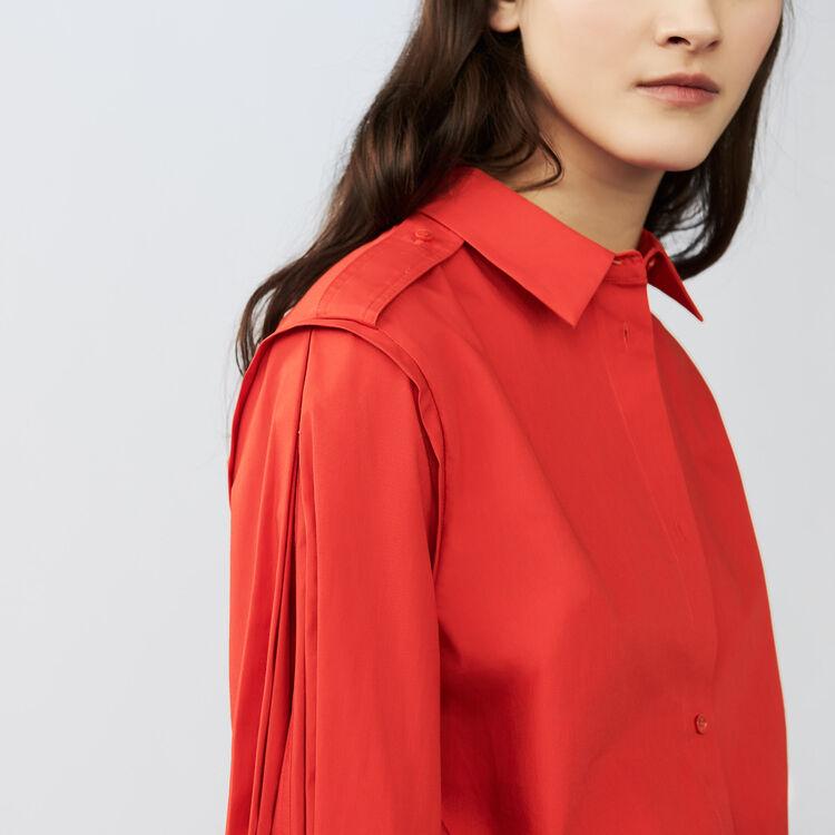 Hemd mit raffinierten Details : Hemden farbe Rot