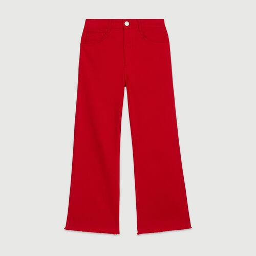 Weite hoch-geschnittene Jeans : Hosen & Jeans farbe Rot