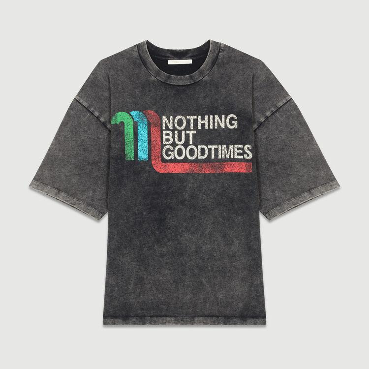 Großes T-Shirt mit Aufschrift : T-Shirts farbe Grau