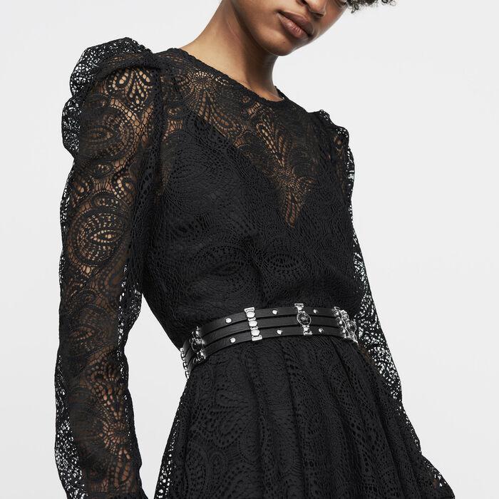 Skaterkleid aus Spitze : Kleider farbe Schwarz