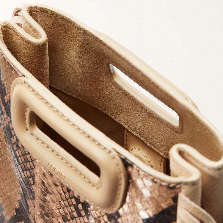 Mini M Tasche aus Schlangenleder : M Mini farbe Beige