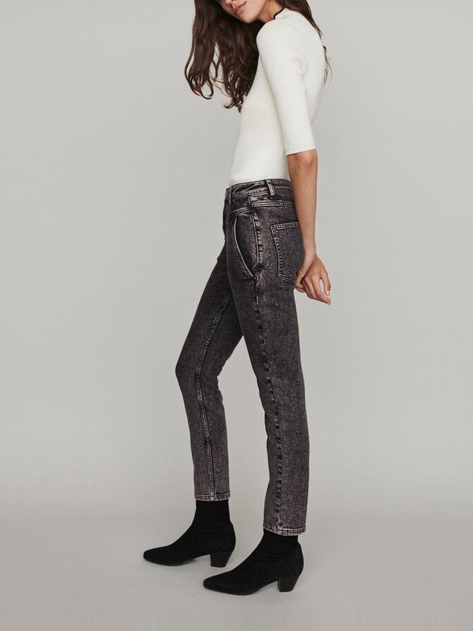 High-Waist Used Jeans - Hosen & Jeans - MAJE