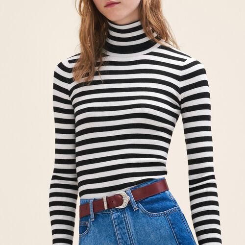 Rollkragenpullover mit Streifen : Pulls & Cardigans farbe Zweifarbig