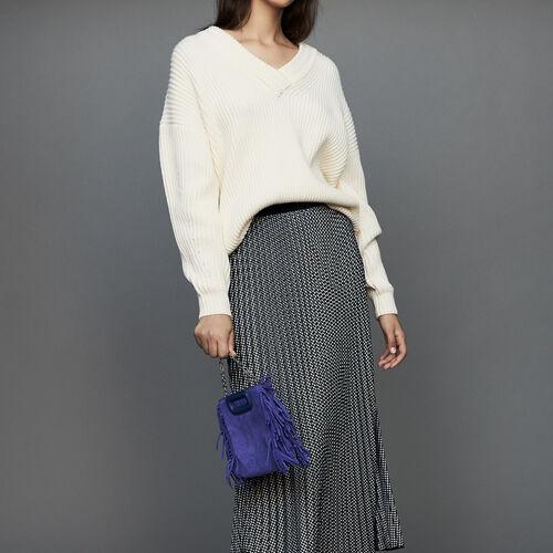 Faltenrock mit Hahnentrittmuster : Röcke & Shorts farbe CARREAUX