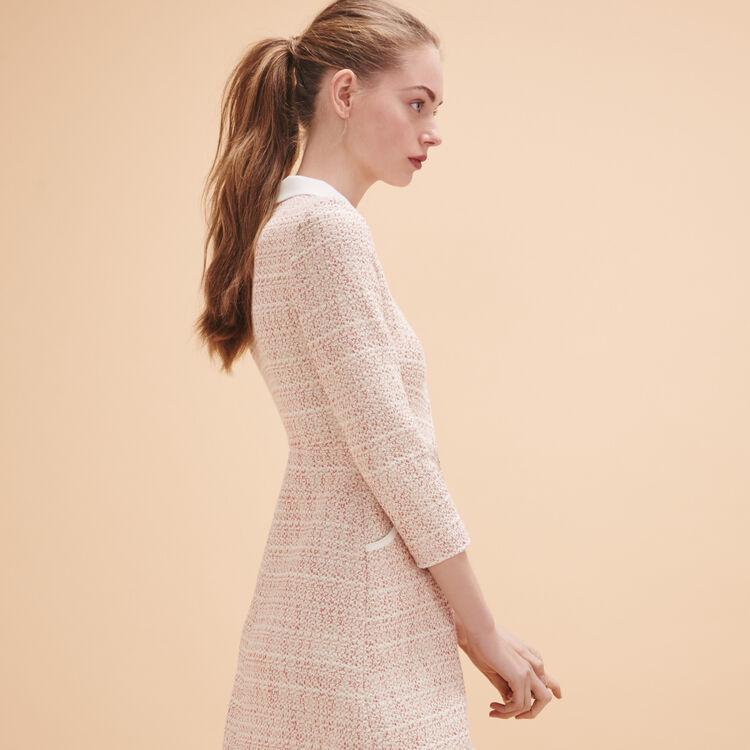 Kleid aus Jacquard mit Knöpfen - Dress Code - MAJE