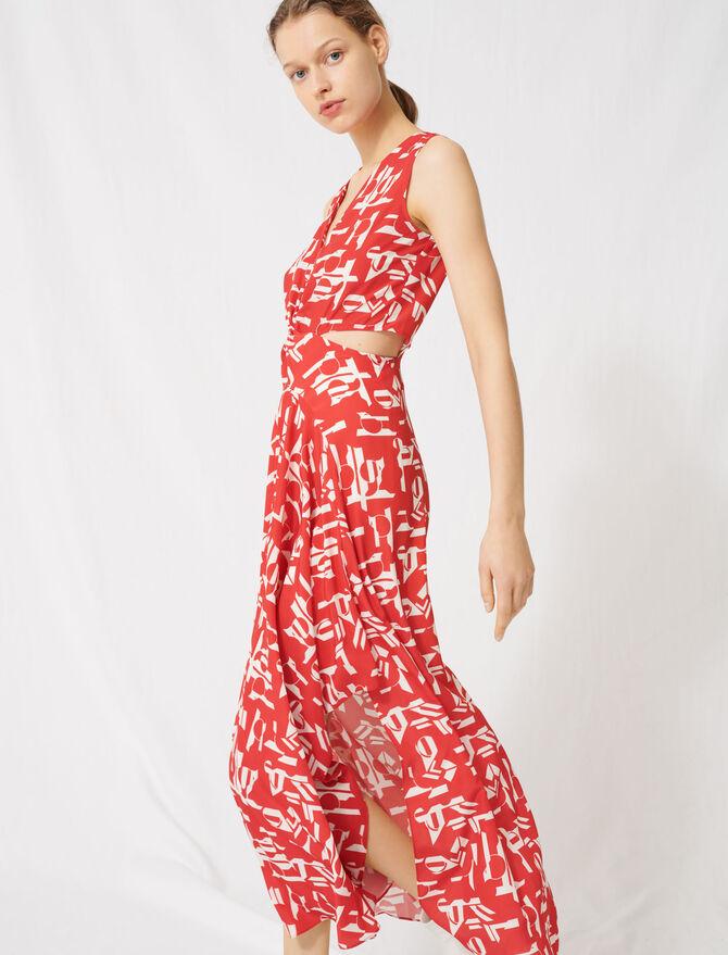Rotes Kleid mit Ausschnitten -  - MAJE