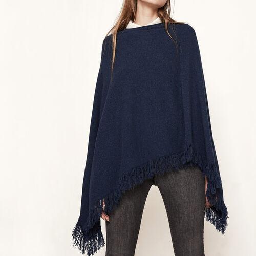 Kaschmir-Poncho : Pullover und Cardigans farbe Nachtblau