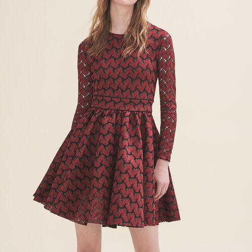 Kleid aus verklebter Spitze : Kleider farbe IMPRIME