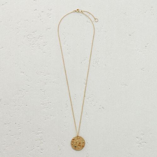 Collier Sternzeichen Jungfrau : Medaillons farbe OR