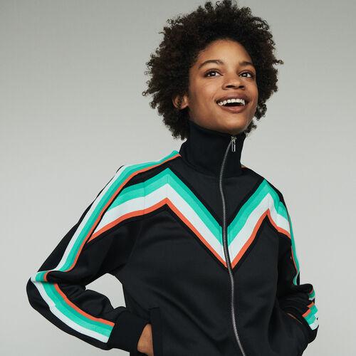 Sportjacke mit Reißverschluss : Pullover & Strickjacken farbe Schwarz