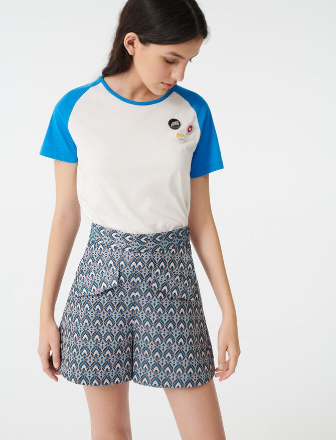 Jacquard-Shorts mit Lurex - Röcke & Shorts - MAJE