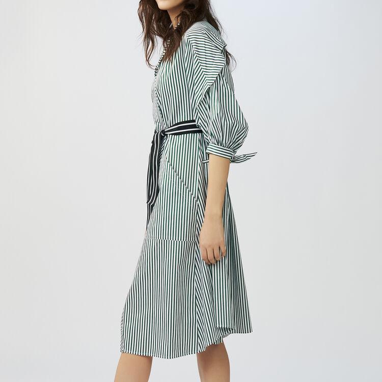 Unstrukturiertes Hemd-Kleid mit Streifen : Kleider farbe Gestreift