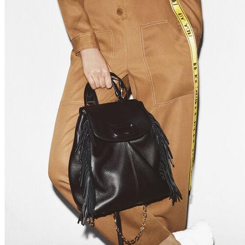 M Rucksack aus Leder mit Kette : M Back farbe Schwarz