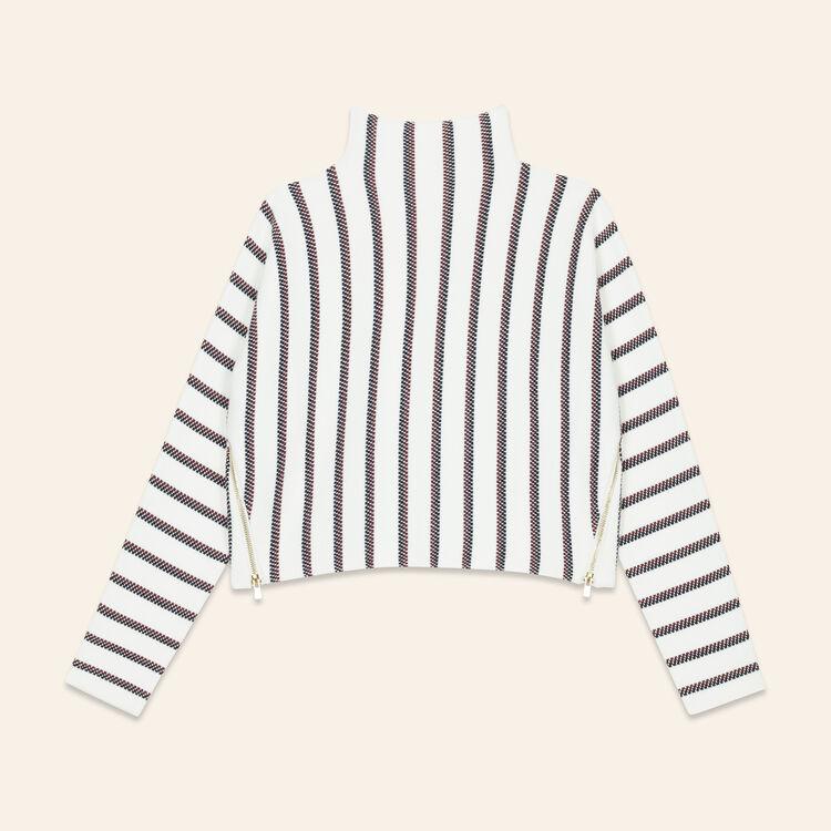 Kurzer Pullover aus maschenfestem Strick : Pulls & Cardigans farbe Ecru