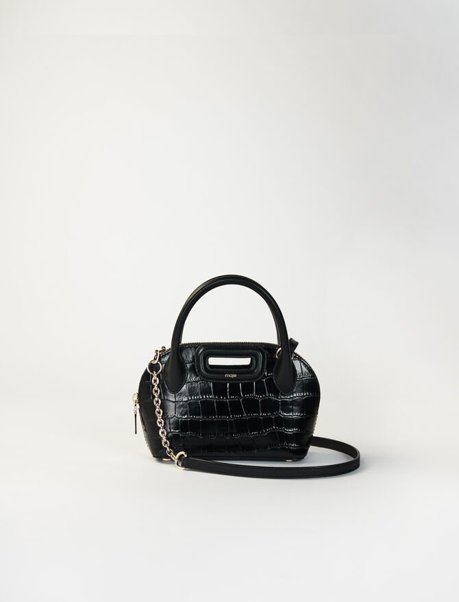 Kleine Lederhandtasche im Kroko-Stil -  - MAJE