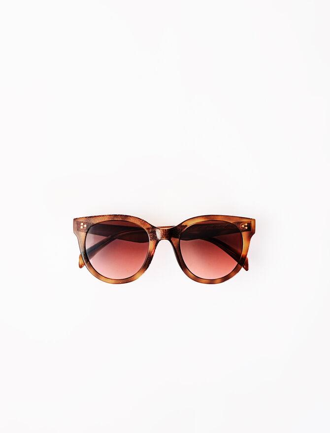 Acetat-Sonnenbrille runde Gläser -  - MAJE