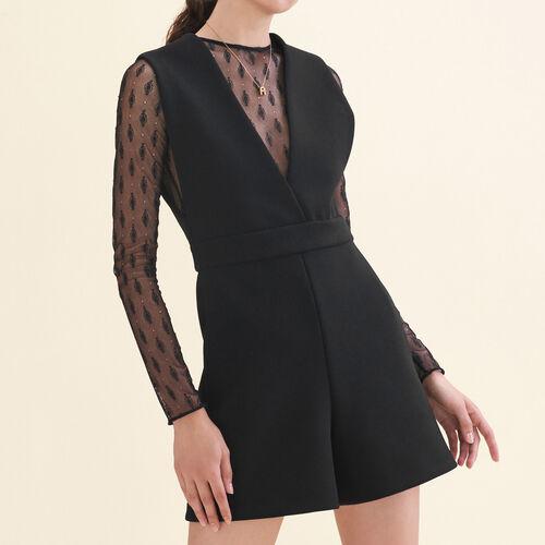Overall aus zwei Materialien : Jupes & Shorts farbe Schwarz