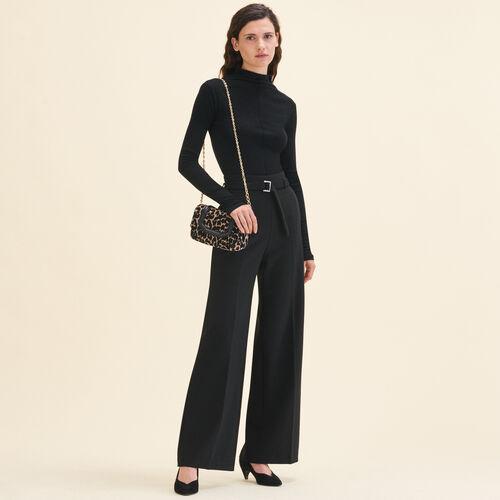 Weite Hose mit hoher Taille : Hosen & Jeans farbe Schwarz