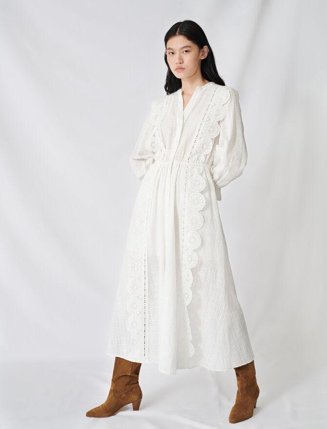 Kleid aus Baumwolle mit Lochstickerei - Kleider - MAJE