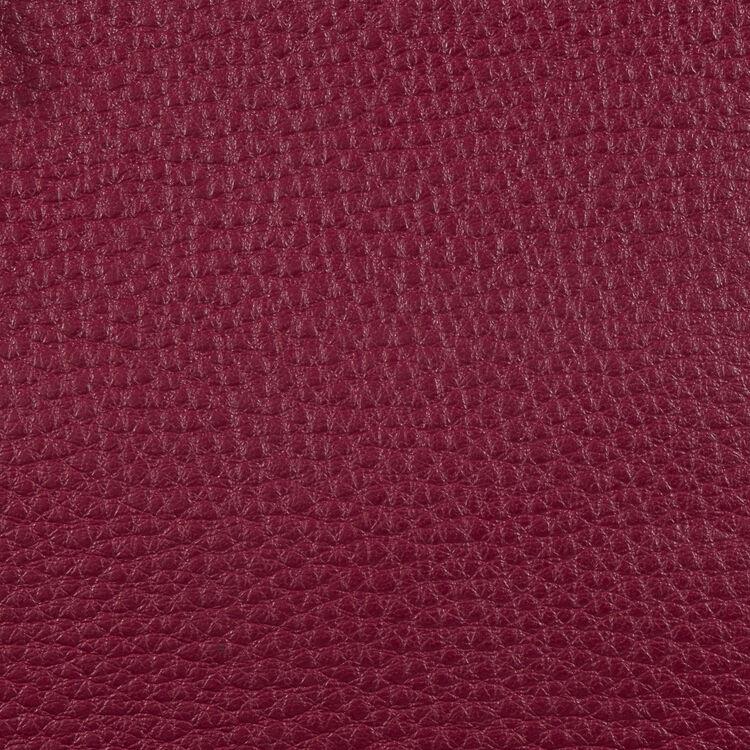 Schultertasche aus Leder : Weinrot farbe Burgunderrot