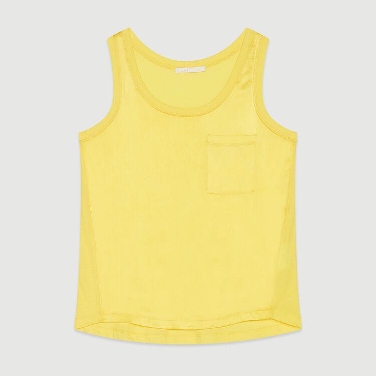 Fliessendes Trägertop aus Seide : T-Shirts farbe Gelb