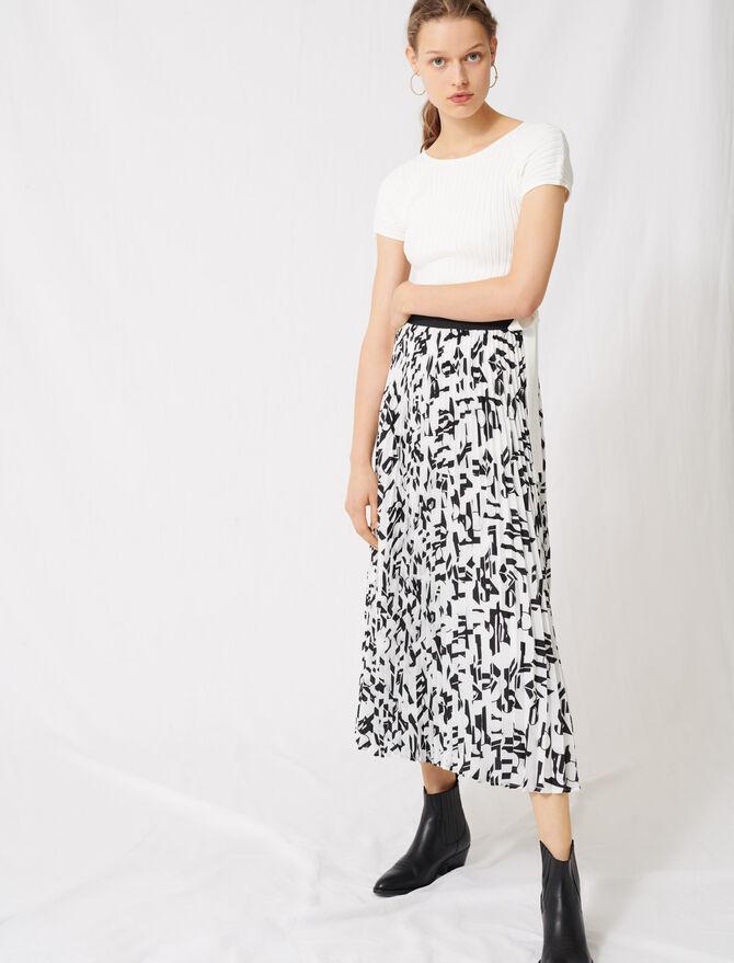 Plisseerock mit Arty-Print - Röcke & Shorts - MAJE