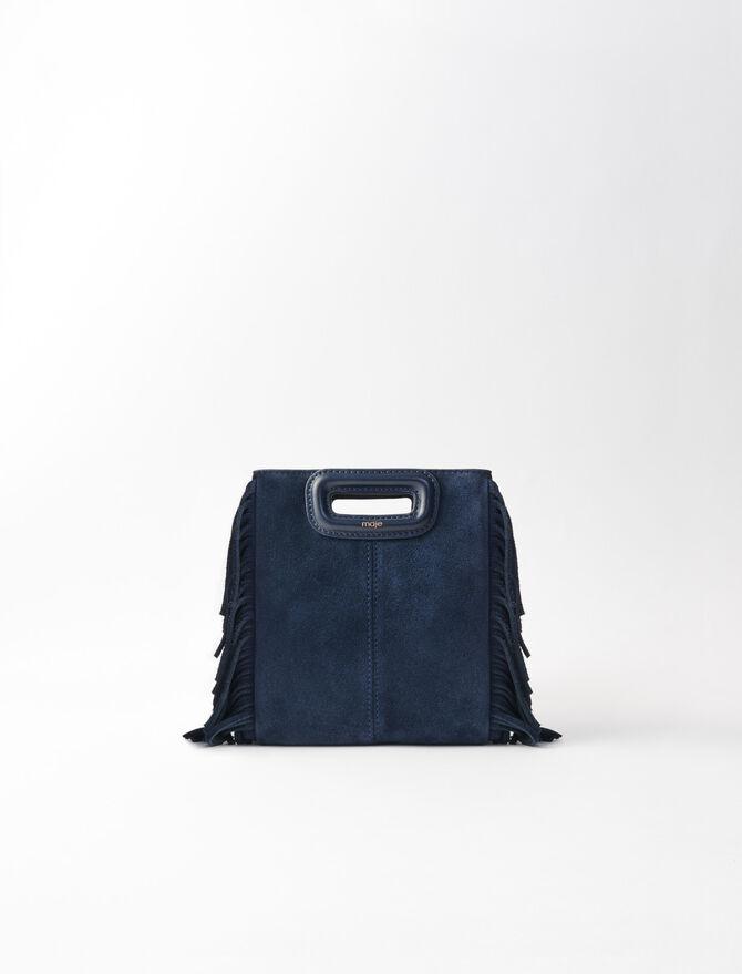 Mini M Tasche aus Velour -  - MAJE