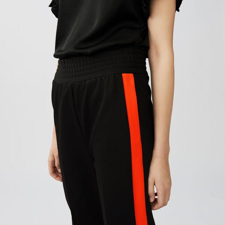 Gerade Hose mit bändern : Hosen farbe Schwarz