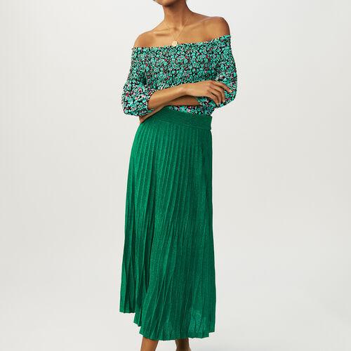 Kombi-Short aus Jersey : Röcke & Shorts farbe VERT