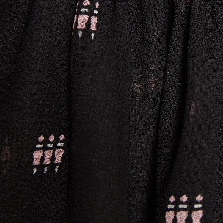 Bluse mit Druck und Verzierung : Special jemand farbe IMPRIME