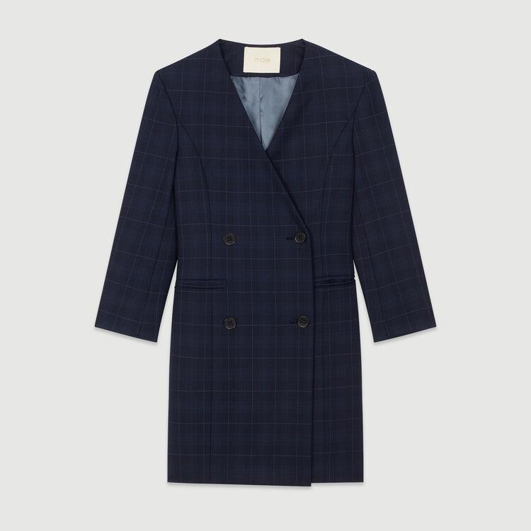 Hemdkleid mit Karos : Kleider farbe Marineblau