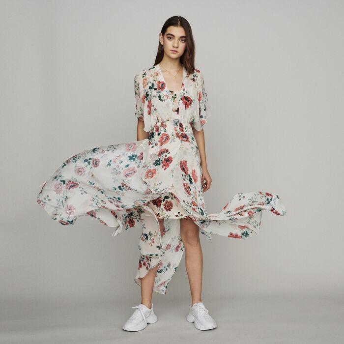 Schal-Kleid aus Musselin : Kleider farbe IMPRIME
