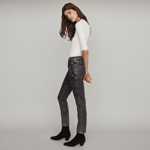 High-Waist Used Jeans : Hosen & Jeans farbe Anthrazit
