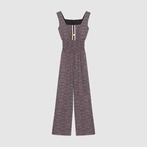 Overall aus Tweed : Hosen farbe Jacquard