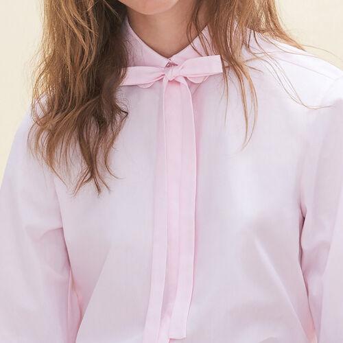Weites Hemd aus Popeline - Hemden - MAJE