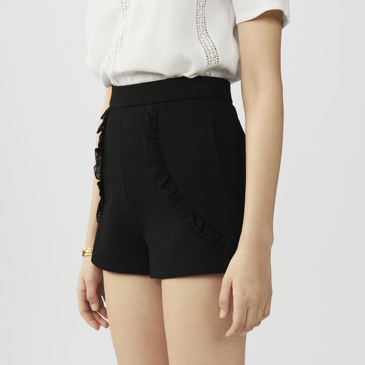 Lace short : Röcke & Shorts farbe Schwarz