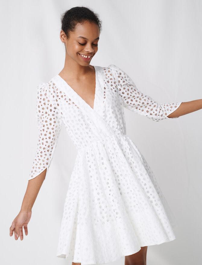 Weißes Spitzenkleid - Kleider - MAJE