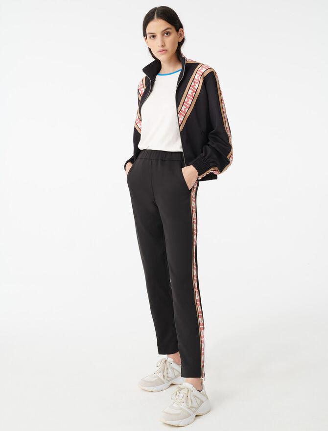 Hose im Jogging-Stil mit Streifen - Hosen & Jeans - MAJE