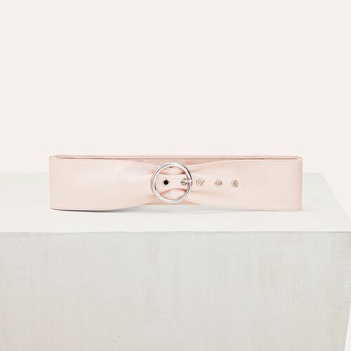 Breiter Gürtel aus Leder : Accessoires farbe Hellrosa