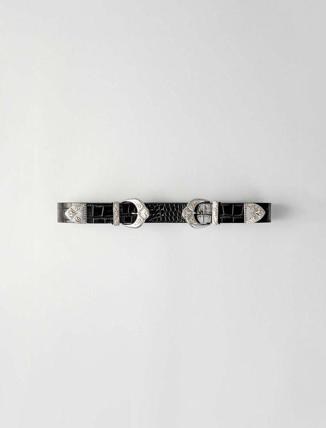 Westerngürtel mit doppelter Schnalle - Gürtel - MAJE