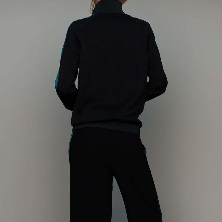 Zweifarbige Sportjacke : Urban farbe Schwarz